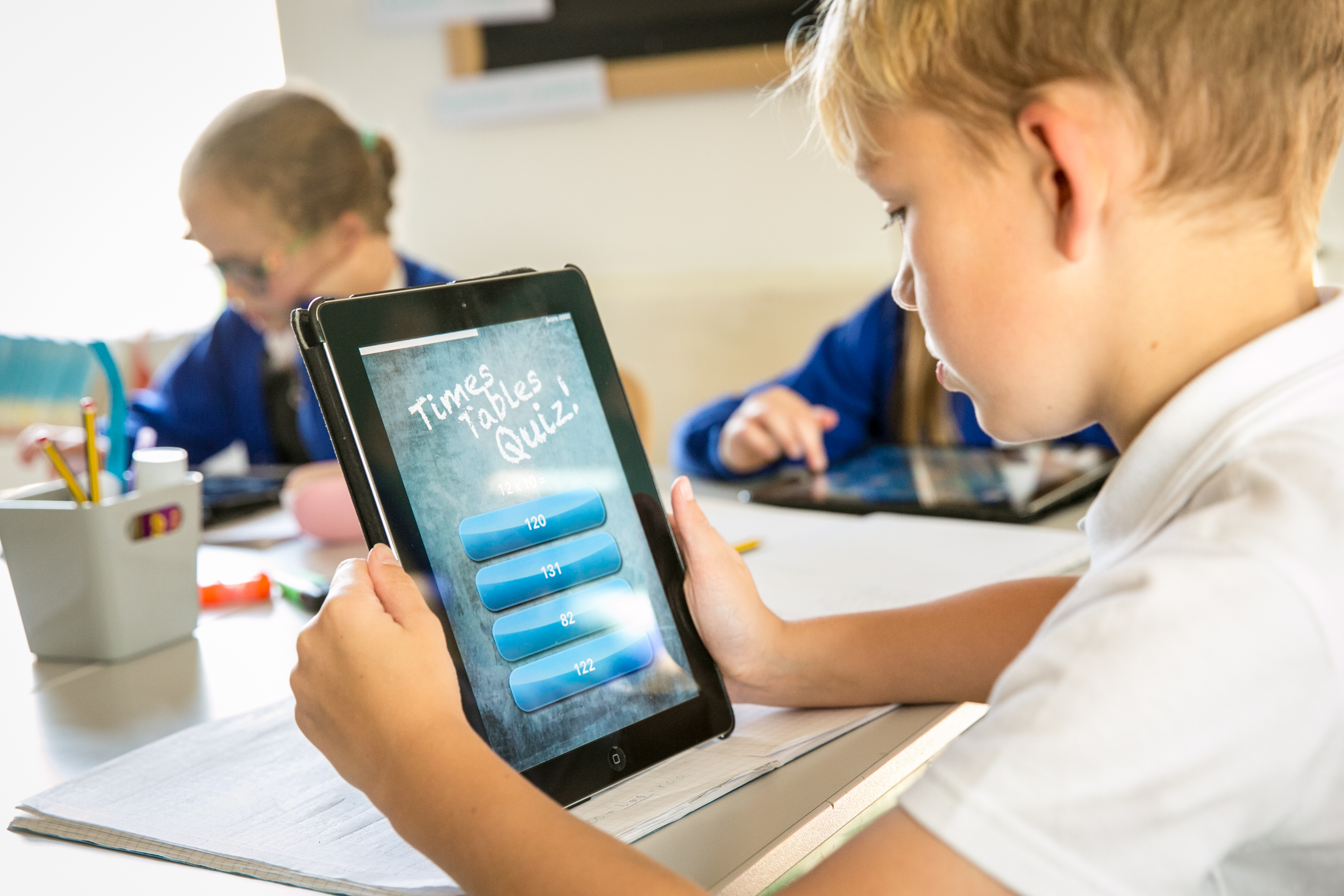 iPads to improve mathematical fluency.